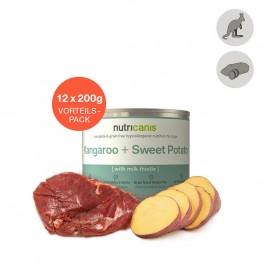 Adult wet dog food: 12 x 200g Kangaroo + Sweet Potato